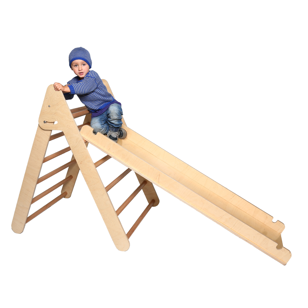 Climbing Frame and Slide -L - Birnbaum Designs